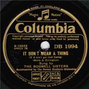 The Boswell Sisters - It Don't Mean A Thing / St. Louis Blues download free